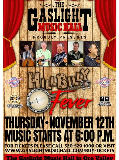 hillbilly fever bluegrass band at gaslight music hall tucson
