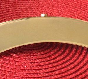 gold banjo arm rest